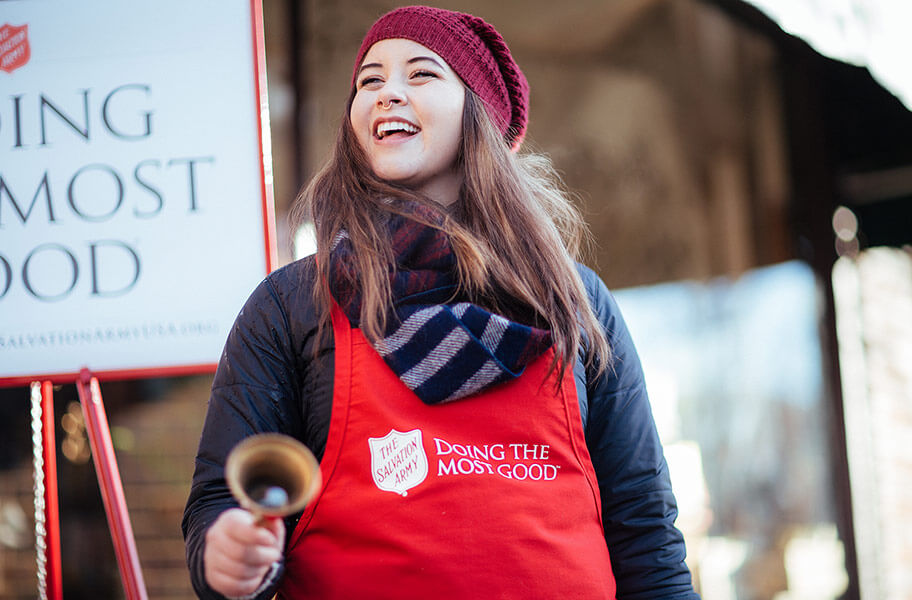 Salvation Army Red Kettle Volunteer